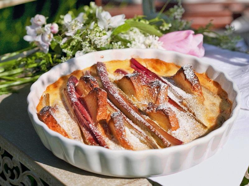 Le gratin de rhubarbe, un bon goût du printemps