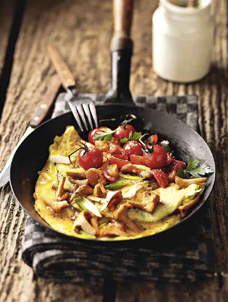 omelette au parmesan