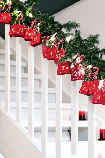 tuto pour fabriquer un calendrier de l'Avent pour Noël