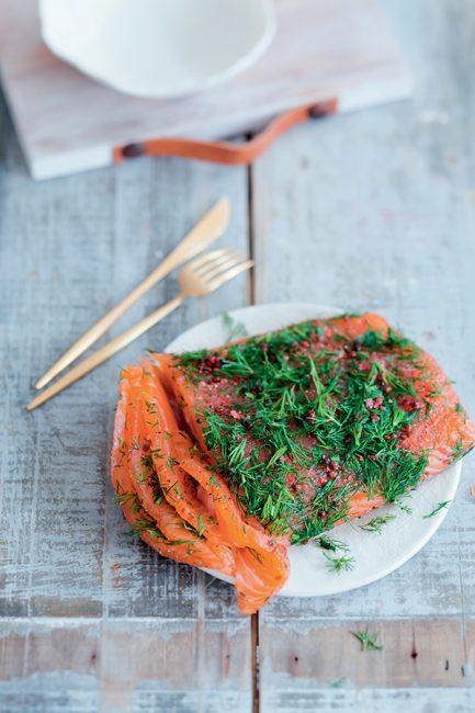 recette saumon gravlax pour Noël