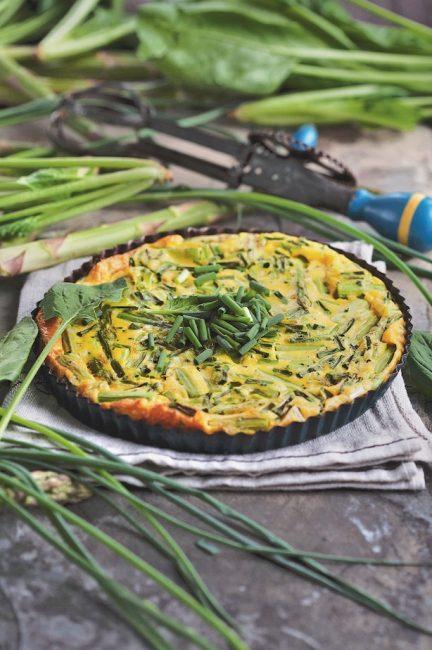 La ciboulette Omelette aux asperges