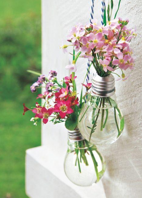 DIY recup pour un vase-ampoule