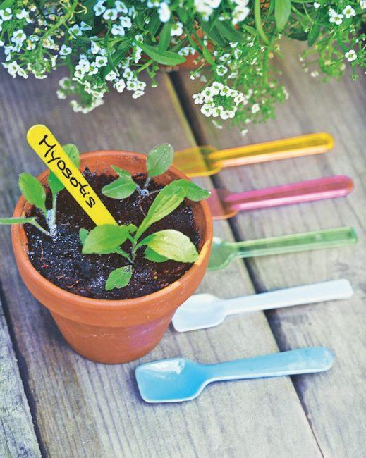 étiquettes jardin
