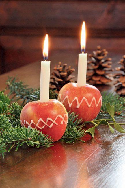 DIY Noël : décorer des pommes au sucre glace