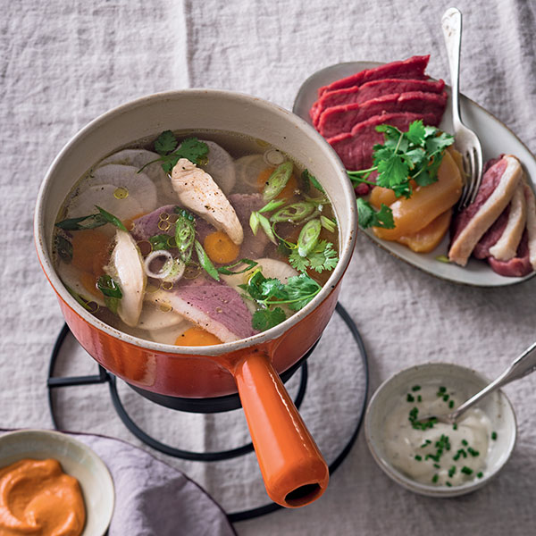 Recette d'hiver : trio de viandes cuites au bouillon