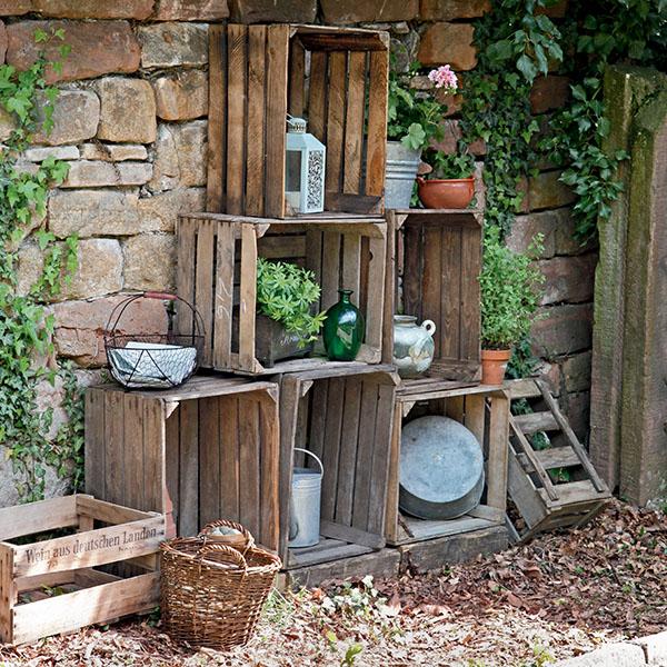 idée récup pour recycler des caisses en bois