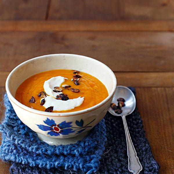 La recette d'automne : soupe de potimarron au comté
